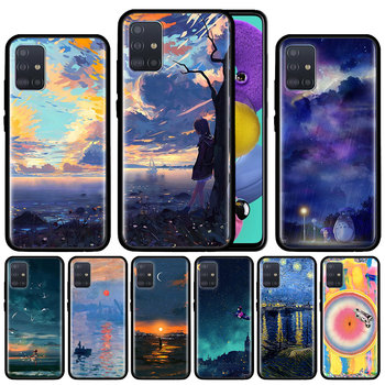 Star Scenery Palette Case For Samsung Galaxy A51 A71 M31 A41 A31 A11 A01 M51 M21 M11 M40 Black Soft Phone Cover Fundas waves ocean water case for samsung galaxy a51 a71 m31 a41 a31 a11 a01 m51 m21 m11 m40 black soft phone cover fundas