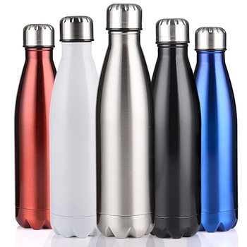 350/500/750/1000ml Double wall Stainles Steel Water bottle Thermos bottle keep Hot and Cold Insulated Vacuum Flask for Sport 2