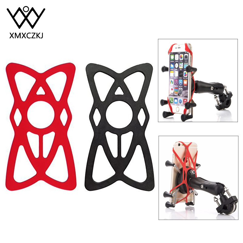 XMXCZKJ Security Rubber Bands Replacement Silicone Straps Moto Bike Phone Mount Universal Mountain Bicycle Phones Holder Support