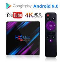 H96 max rk3318 smart android caixa de tv 16 gb 32 gb 64 gb media player 4 k wifi netflix definir caixa superior media player youtube android 9.0 caixa