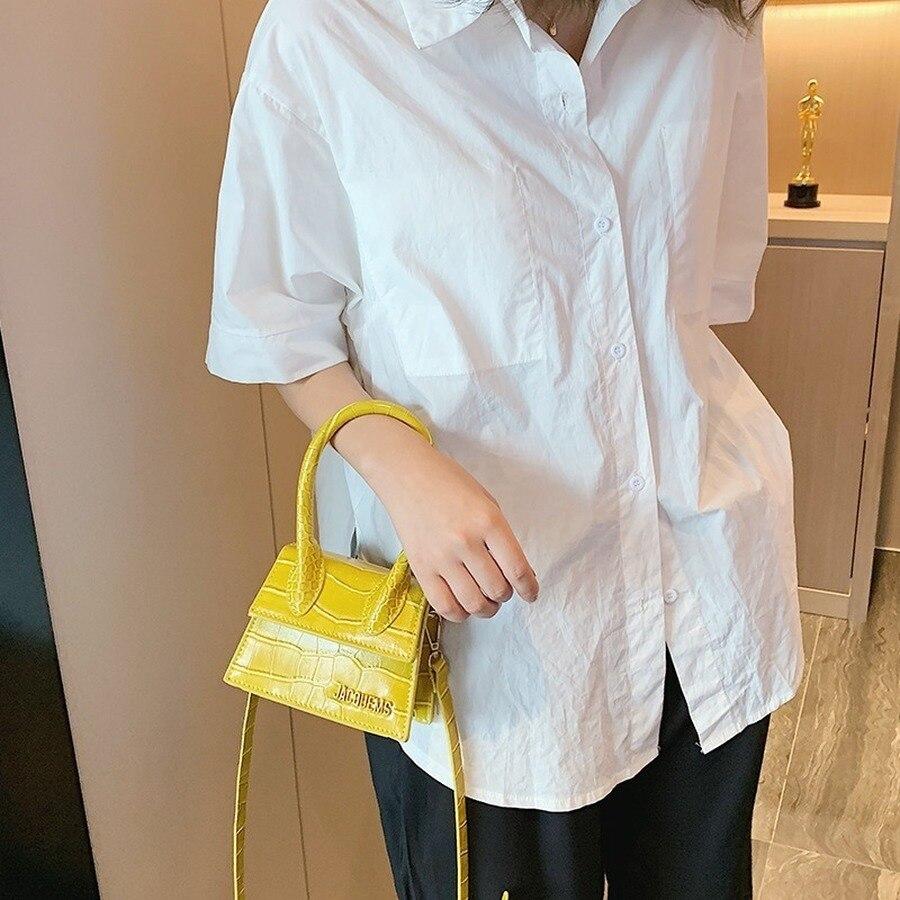 Fashion Big Handle Women Handbags Designer Brand Female Shouder Bags Luxury Pu Alligator Leather Crossbody Bag Lady Small Purse