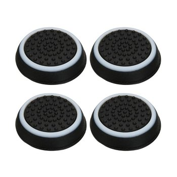 4PCS Thumb Stick Grips Caps For PS4 Pro Slim Silicone Analog Thumbstick Grips Cover For Xbox PS3 PS4 Accessories image