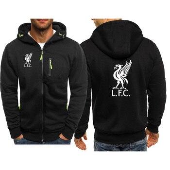 Hoodie Men's Liverpool Print Casual Hip Hop Harajuku Long Sleeve Hooded Sweatshirt Men Zipper Jacket Jacket Men Hoodie Clothing