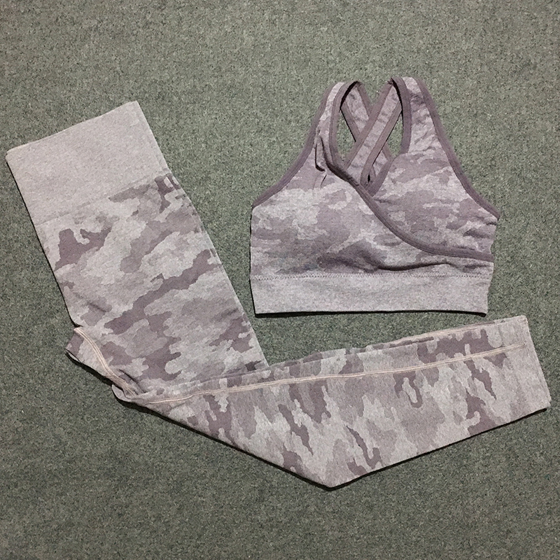 2 piece camo workout set women seamless yoga set camouflage set woman outfits sets fitness clothing gym clothes for women