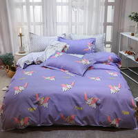 Thumbedding Dumbo Bedding Set For Kids Cartoon Fashionable King Duvet Cover Purple Queen Full Twin Single Comfortable Bed Set