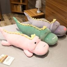 Super Soft High Quality Dinosaur Plush Toy Cartoon Animal Three Colors Stuffed Doll Bed Nap Pillow Girls Kid Presents