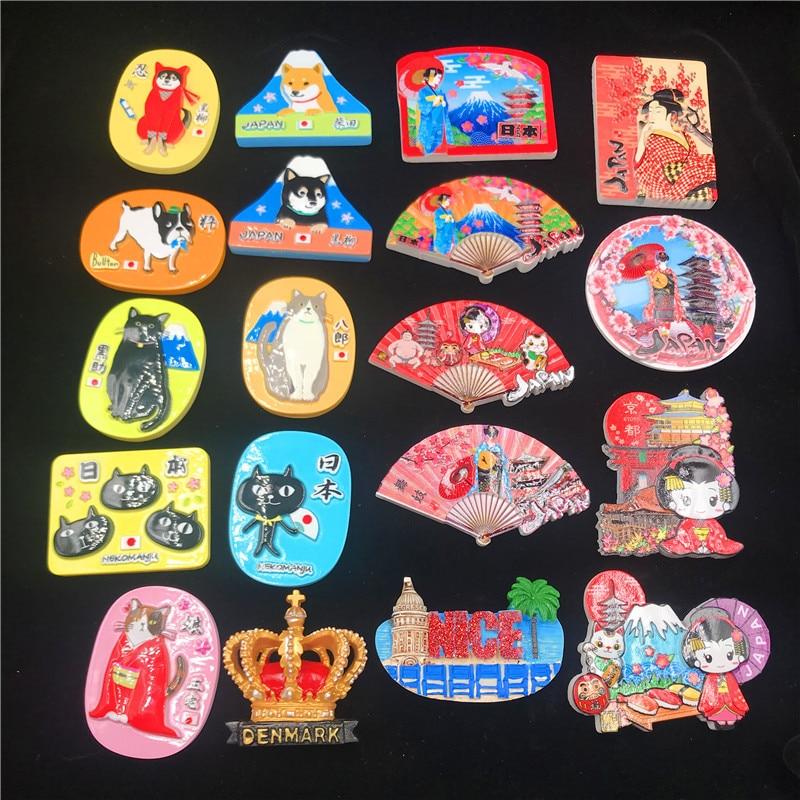 World Travel Fridge Magnet Japan Country Souvenir Fridge Magnets Japanese Culture Dance Ji Fuji Mountain Sumo Magnetic Sticker(China)
