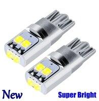 2 pièces nouveau T10 W5W Super lumineux Cree puce LED cale Parking ampoules voiture dôme lampes de lecture WY5W 168 501 2825 Auto tour feux latéraux