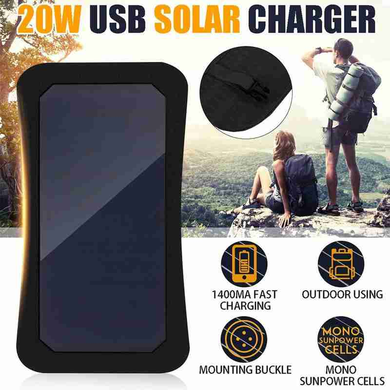 20w 5v usb carregador de painel solar