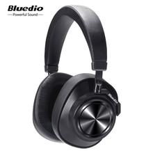 Bluedio T7 ANC Bluetooth אוזניות על אוזן אוזניות אלחוטיות 57mm כונן HIFI Bluetooth אוזניות עם מיקרופון עבור טלפון מוסיקה ספורט