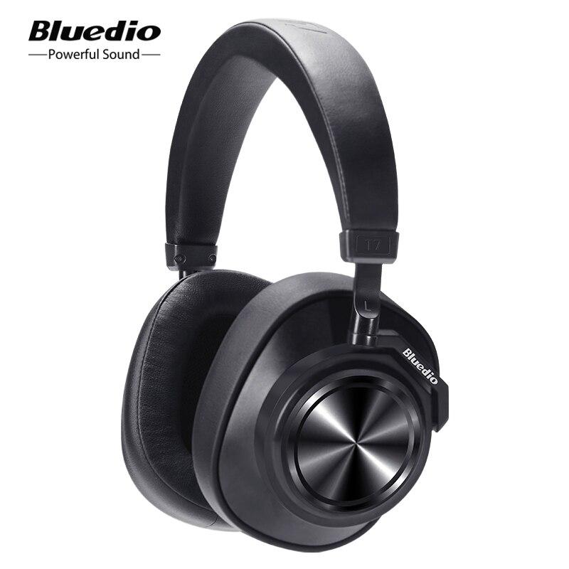Bluedio T7 ANC Bluetooth Headphones Over ear Wireless Headset 57mm drive HIFI Bluetooth earphone with mic for phone music sports Phone Earphones & Headphones  - AliExpress