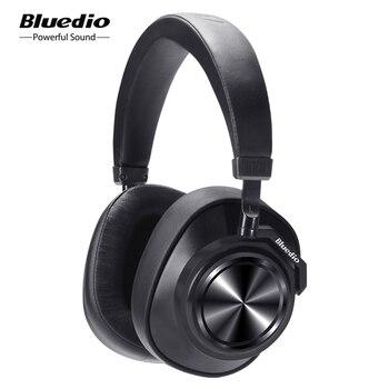 Bluedio T7 ANC Bluetooth Headphones Over ear Wireless Headset 57mm drive HIFI Bluetooth earphone with mic for phone music sports