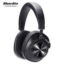 Bluedio t7 anc bluetooth fones de ouvido sobre a orelha sem fio 57mm unidade de alta fidelidade bluetooth fone com microfone para o telefone música esportes