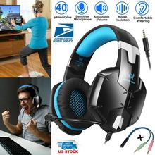G1200 Gaming Headset for PS4, Professional 3.5mm PC Stereo Headphones with Mic, Super Bass Headband for PS4 PC Computer Laptop ep 16 headband style headphones game headset with hd microphone 3d stereo bass handsfree talking for computer laptop ipad pc