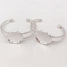 2 шт женский круглый регулируемый браслет с кабошоном