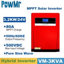 3200W Pure Sinus Solar Hybrid Inverter Mppt 80A Zonnepaneel Lader En Ac Charger All In One 230VAC solar Laadregelaar