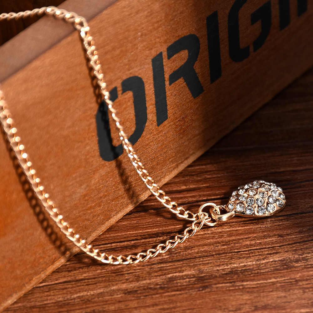Śliczne Fashion lady Rhinestone spadek naszyjnik srebrny złoty kolor naszyjniki wisiorki biżuteria dla kobiet długi naszyjnik