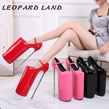 30cm Heels Pumps Leopard Land Shoes Performance Party Sexy Show Nightclub WZ-JS30-1 Disposable