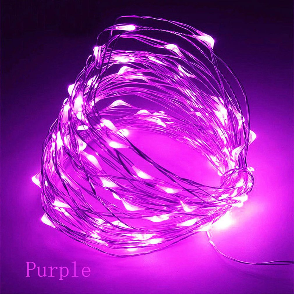 10m 32.8ft 100 LED 3AA Battery Copper Wire String Light Night Light For Christmas Wedding Garland Festival Party Home Decor Sale