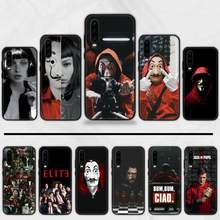 Paper House Spain TV Money Heist TPU Soft Phone Case Cover For Huawei Y5 Y6 II Y7 Y9 PRIME 2018 2019 NOVA3E P20 PRO P10 Honor 10(China)