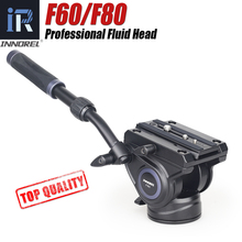 F60/F80 tête fluide vidéo panoramique hydraulique DSLR caméra trépied tête pour monopode curseur poignée réglable Manfrotto Q.R. Plaque