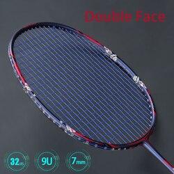 Ulralight 9U 57G In Fibra di Carbonio Racchette Da Badminton Con I Sacchetti Corde Racchetta Professionale Max Tensione 32lbs G5 Padel Ad Alta Velocità