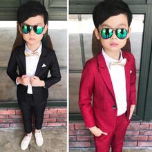 Suit-Set Blazer-Pants Baby Boys Dress Flower Formal Kids Children's Autumn Spring Costume-Performance