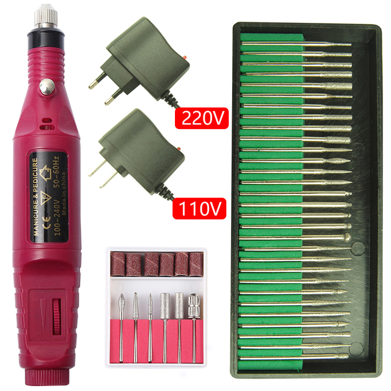 20000RPM Electric Nail Drill Machine Manicure Set Pedicure Nail File Gel Remover Polishing Tools Strong Nail Drill Equipment Kit