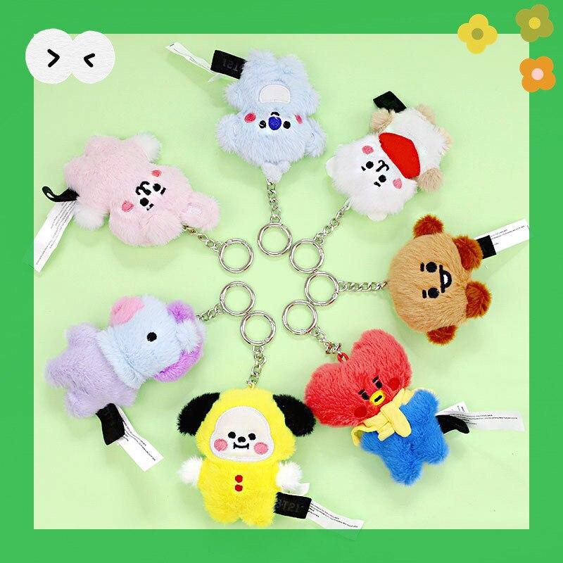 Plush keychain suffed doll kawaii animals bunny dog koala toys kpop gift for fans