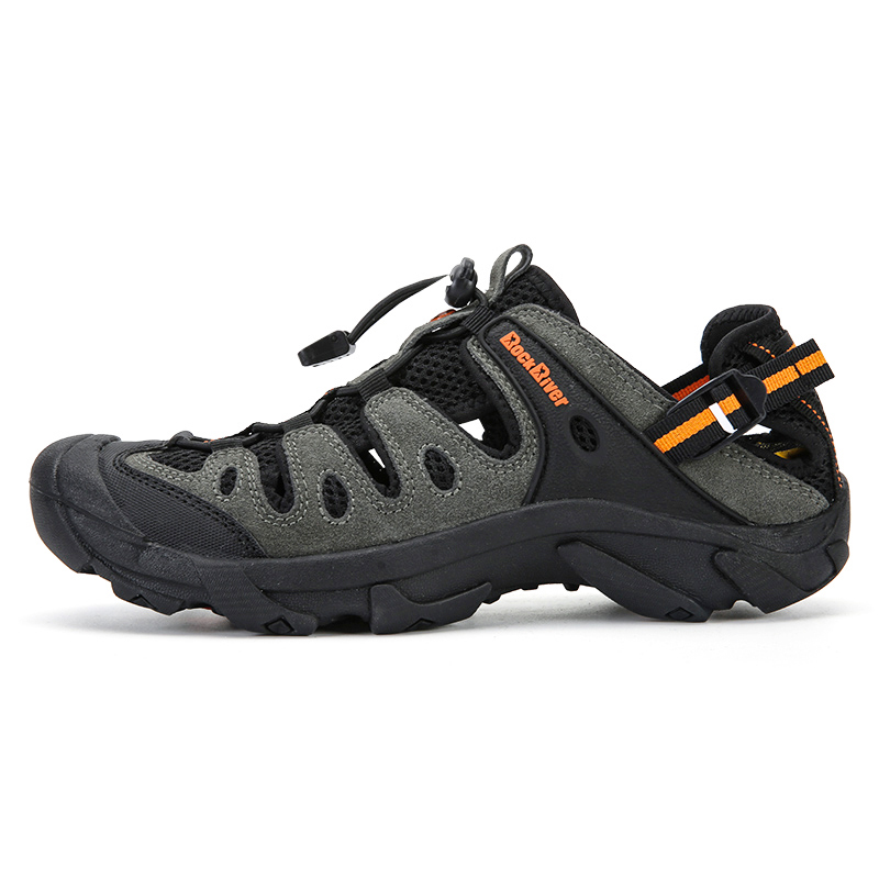 Leather Men Hiking Trekking Shoes Spring Summer Outdoor Hiking Sandals Breathable Mountain Climbing Sneakers Trail Shoes For Men