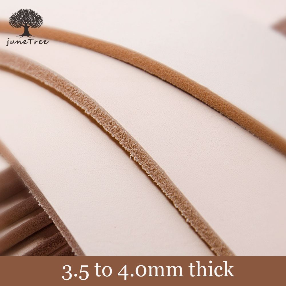 Natural Cowhide thick genuine leather vegetable tanned leather 3.5 to 4.0 mm Full Grain Veg Tanned Leather Piece Handmade DIY image