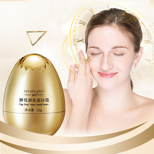 Anti Wrinkle Magical Egg Sleeping Mask Facial Yeast Eggshell Peel Off Mask Cream Hydrating Repair Face korean Skin Care Masks 2