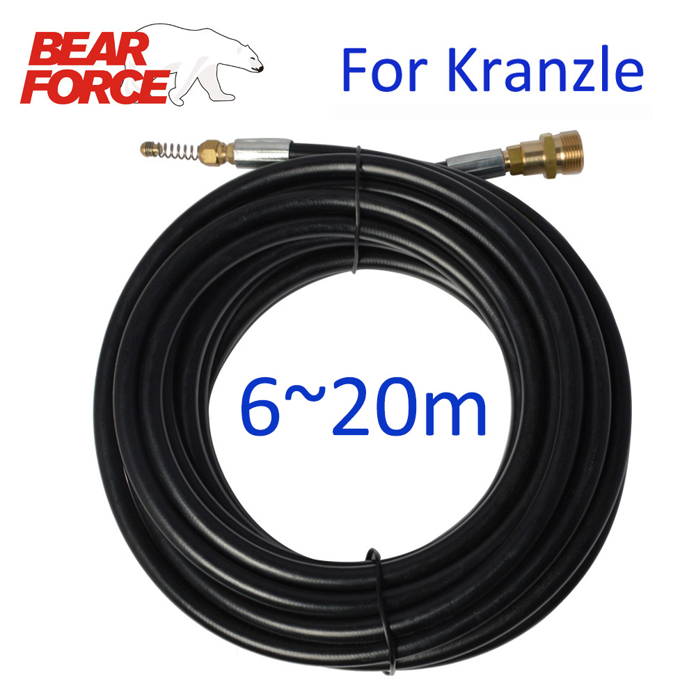 6m 10m 15m 20 Meters Pressure Washer Sewer Drain Cleaning Hose Sewer Pipe Cleaner Sewer Drain Jet Hose Kit For Kranzle