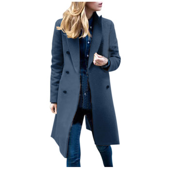 Womens Winter Lapel Wool Coat Trench Jacket Long Overcoat Outwear autumn winter Dropshipping size Leisure Work clothes Selling 4