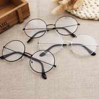 Runde Plain Klare Gläser Ultra Licht Metall Dekoration Transparent Frauen Brillen Rahmen Rezept Optische Spektakel Rahmen SL