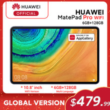 Versão global huawei matepad pro wifi 6gb128gb tablet android 10 turbo 10.8