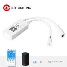 Sp501e led wifi controlador de luz para ws2812b ws2811 endereçável rgb tira alexa inteligente spi voz controle app andriod ios DC5 24V