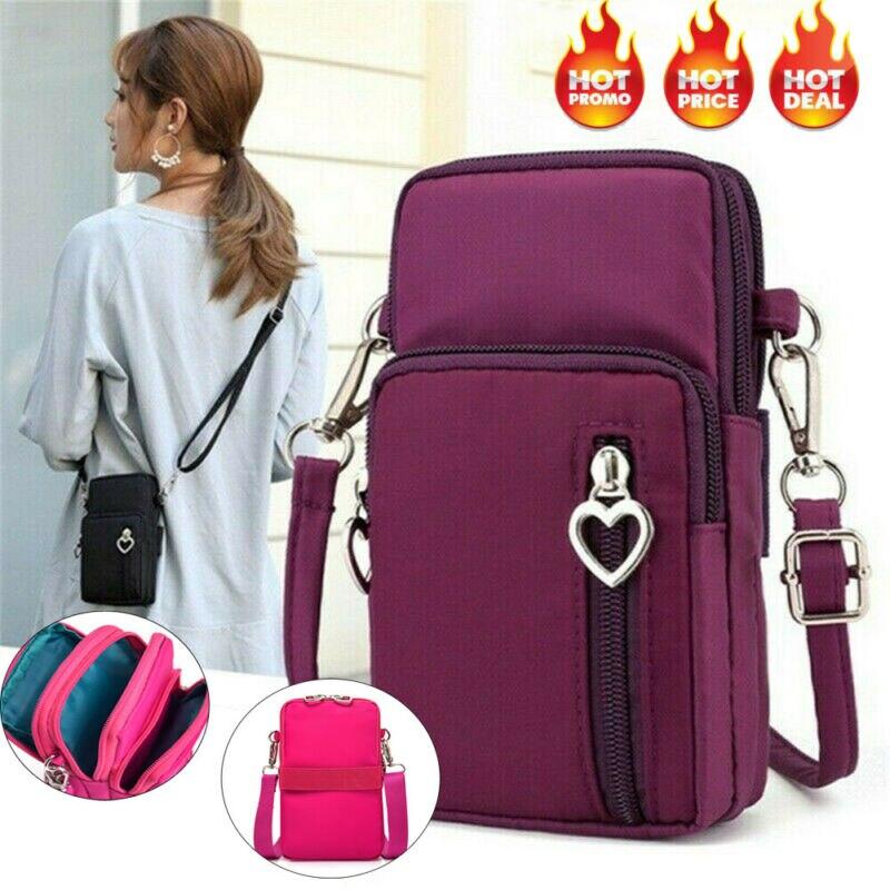 1PC 2020 New Wallet Unisex Cross-body Mobile Phone Shoulder Bag Pouch Case Belt Handbags