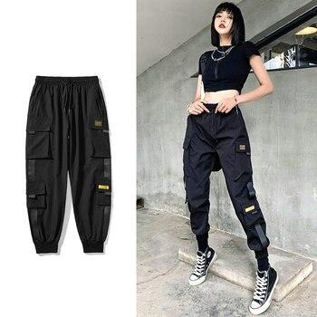 2020 Mens Cargo Pants Multi Pocket Harem Pants Male Streetwear Fashion Mens Casual Jogging Pants New Elastic Waist Trousers 5XL
