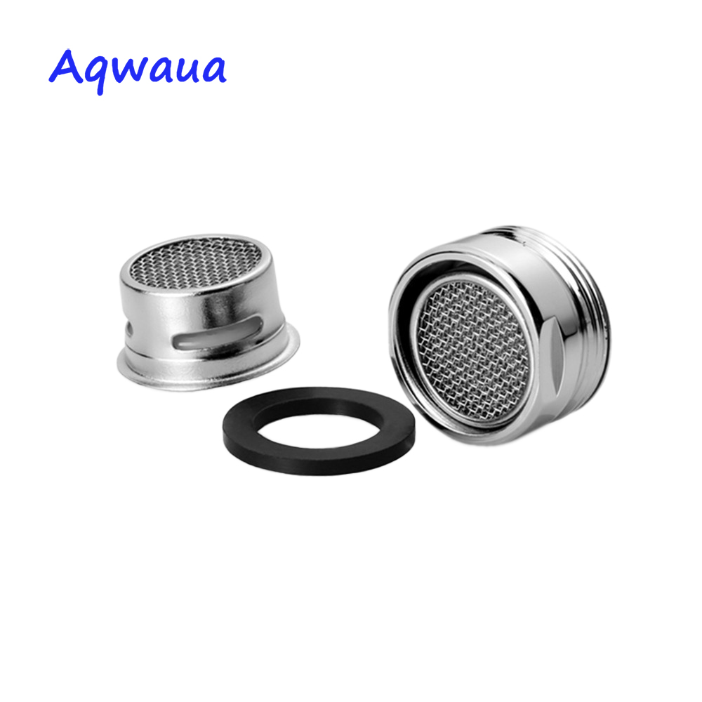 Aqwaua Bathroom Accessories Faucet Aerator 20MM Male Thread Tap SUS304 Full Flow Spout Bubbler Filter Stainless Steel