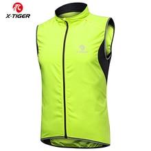 X TIGER 2020 Windproof Cycling Vest Rainproof MTB Bike Jacket Outdoor Sport Quick Dry Rain Jacket Sleeveless Reflective Clothing