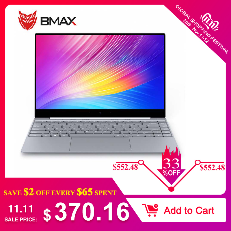 BMAX X14 Laptop 14.1 Inch Intel Gemini Lake N4100  8GB LPDDR4 RAM 256GB SSD ROM Quad Core 1920 X 1080 IPS Win10 Notebook