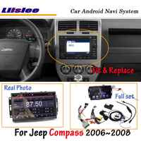 Liislee Android 8.0 For Jeep Compass 2006~2007 Car Stereo Radio BT Carplay Screen Video GPS Navigation Multimedia No DVD Player