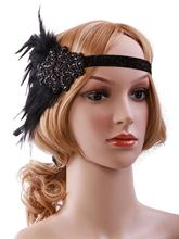 Headpiece charleston costume accessories 1920s Headband Flapper Great Gatsby wedding hair bride