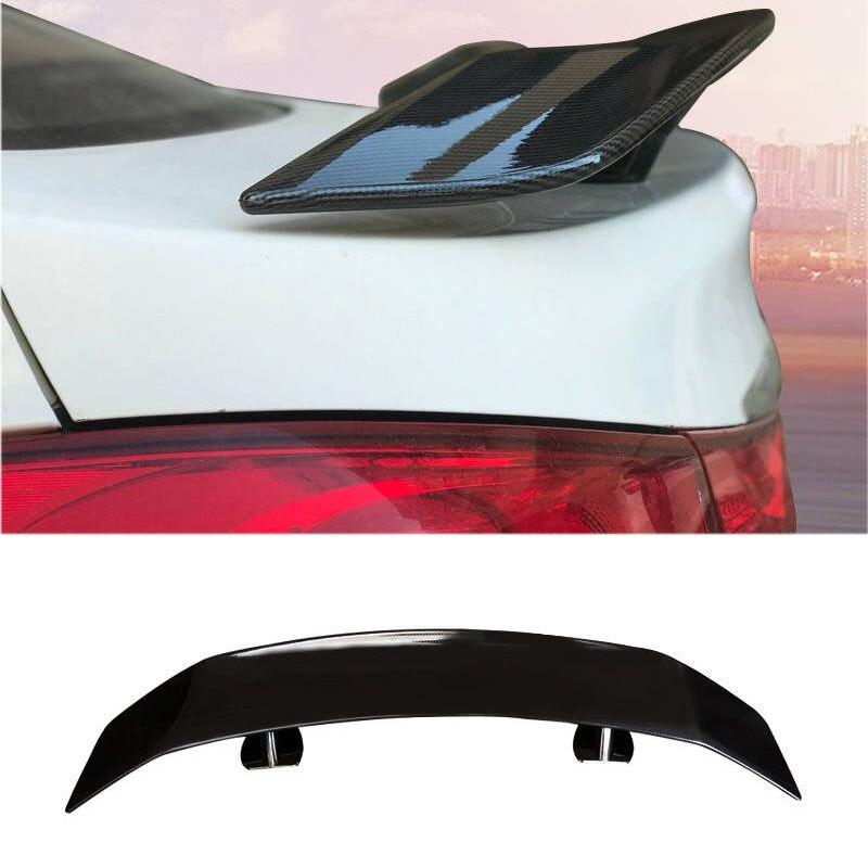 XXIAOHH 6,7 Zoll Universal Auto Schwanz Fl/ügel Carbon G/ünstige Spoiler Mini Auto Faser Dekoration,Wei/ß