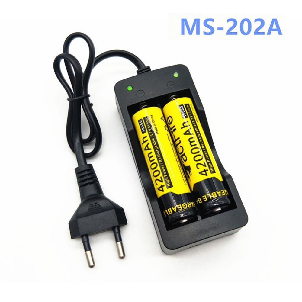 Универсальный 18650 Батарея Зарядное устройство AU/штепсельная вилка европейского стандарта 2 слота смарт-зарядное устройство для зарядки Быс...