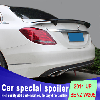 цена на New design For Benz W205 high quality ABS 4-Door Sedan C63 C180 C200 C250 C260 Rear Trunk Spoiler For Brabus Style 2014 - UP