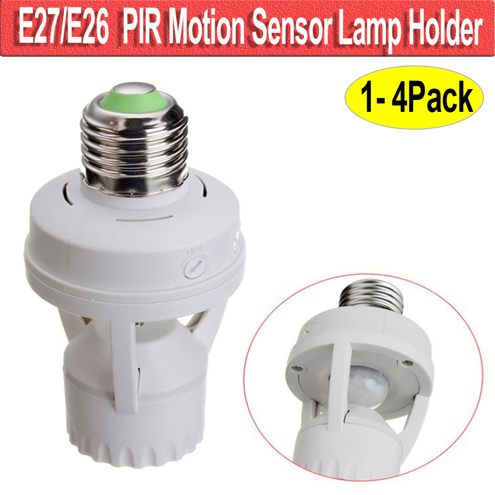 E26/E27 Base Motion Sensor Light Lamp Socket Adapter Infrared Sensor Adapter Dimmable Lamp Bulb Adapter  D40