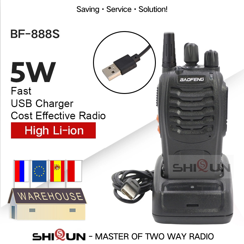 Портативная рация baofeng 888s, 400-470 МГц, USB зарядное устройство, двухсторонняя рация Baofeng bf888s Handy bf 888s baofeng 888, радиоприемник с разъемом для радио и п...
