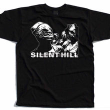 Silent Hill Horror Film Homme T-shirt Mode Harajuku T-shirt Coole Logo T Hemd O Neck T-Shirts Schwarz Top(China)